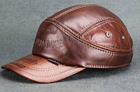 Модель №70 Утеплена шкіряна кепка, фото 1