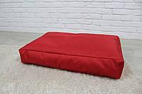 Бескаркасный лежак для собак Beans Bag из ткани Оксфорд стронг 115х75 см с чехлом Красный hubvhud, КОД: