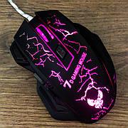 Игровая мышь X7 с подсветкой мышка компьютерная для игр компьютера пк геймерская мышь мышка