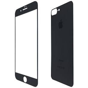 Защитное стекло  for Apple iPhone 7 Plus matt back/face black