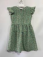 Дитяче плаття для дівчинки з крильцями в дрібну квіточку розмір 3-6 років, колір уточнюйте при замовленні, фото 1