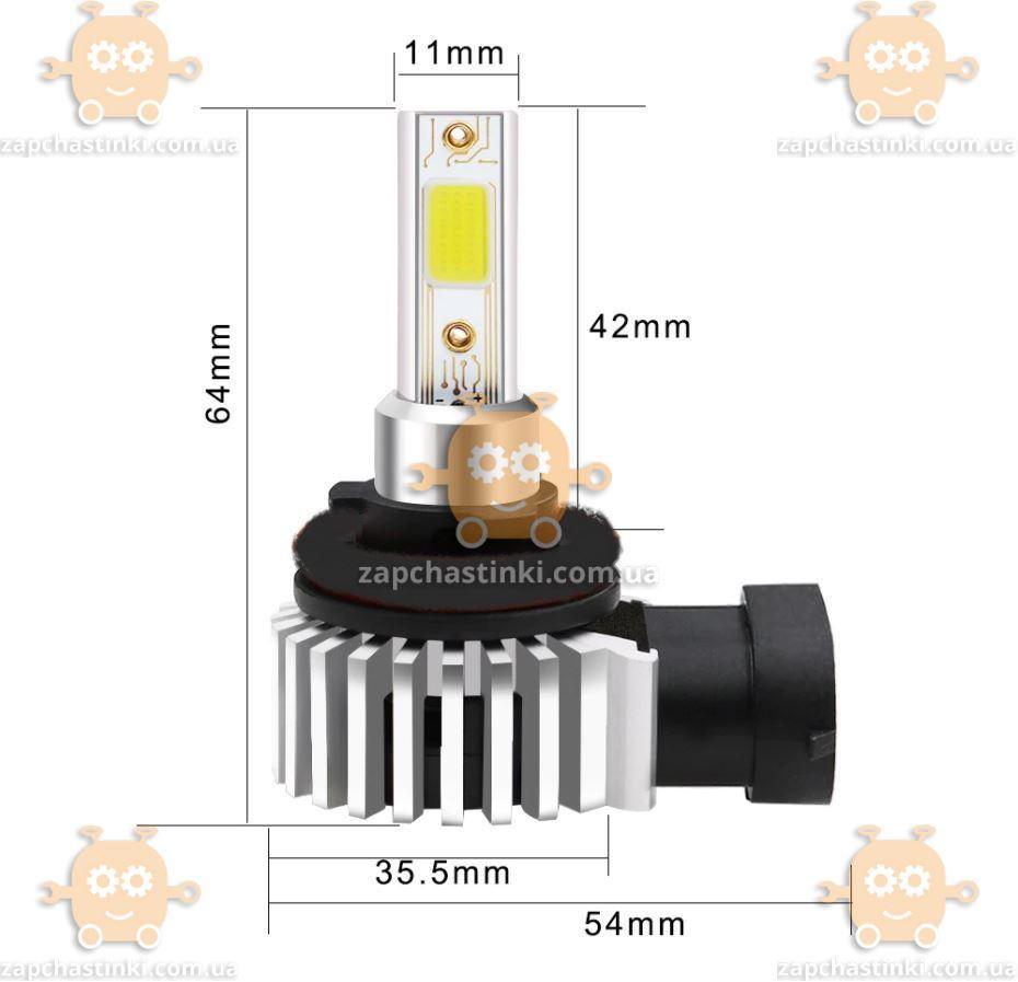 Лампа светодиодиодная на габарити H10 (9012) 12000К Led колір синій 2ШТ (пр-во Muxall Тайвань)
