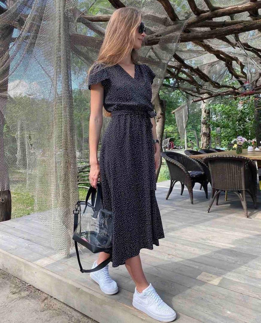 Женское платье, супер - софт, р-р 42-44; 44-46 (чёрный)