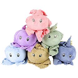 Полотенце-игрушка 50х100см детское для лица из микрофибры «Сказочный ушастик»