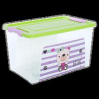 """Контейнер """"Smart Box"""" з декором Pet Shop  3,5л. (прозрачный/оливковый/роз.)"""