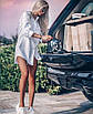 Стильное платье-рубашка мини, фото 3
