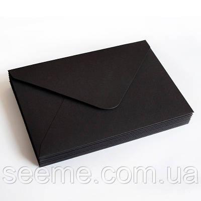 Конверт 162x113 мм, цвет черный (дефект)