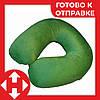 Подушка-подголовник для перелета Memory Foam Travel Pillow - Зеленая, с доставкой по Киеву и Украине