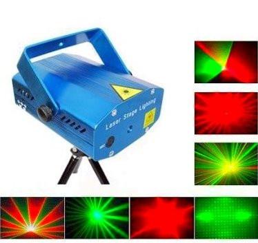 Лазерный диско проектор стробоскоп лазер светомузыка 3 режима, микрофон, регулировки Цветной лазерный проектор