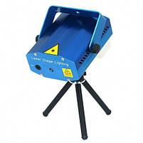 Лазерный диско проектор стробоскоп лазер светомузыка 3 режима, микрофон, регулировки Цветной лазерный проектор, фото 2