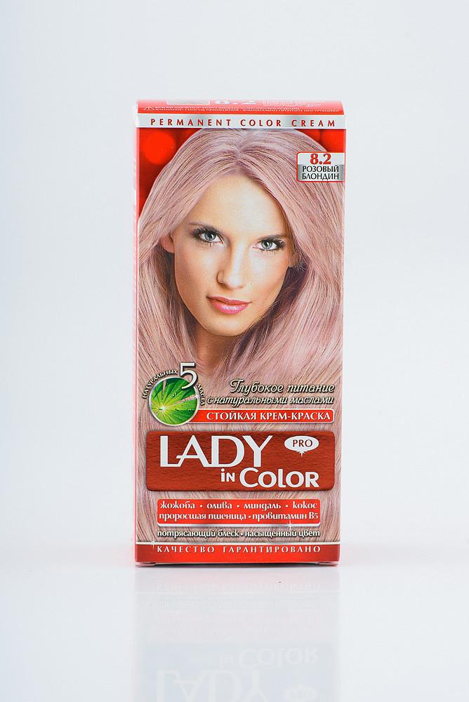 Lady in color фарба для волосся №8.2 Розовий блондин