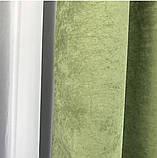Комплект штор на люверсах з тюлем Штори на люверсах 200х270 + тюль 500х270 Штори з підхватами Колір Бежевий, фото 7