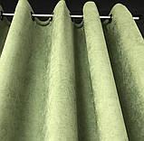 Комплект штор на люверсах з тюлем Штори на люверсах 200х270 + тюль 500х270 Штори з підхватами Колір Бежевий, фото 4