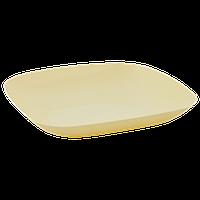Тарелка 190*190*28мм. (желтая)