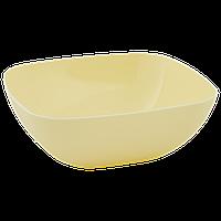 Тарелка глубокая 150*150*55мм. (желтая)
