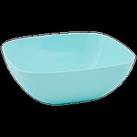 Тарелка глубокая 150*150*55мм. (салатовый)