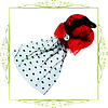 Шляпка с вуалью Бант со стразом (красная,черная,коричневая,фиолетовая), фото 2