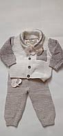 Детский вязаный костюм с органических волокна 50/56 Lupilu бежевый, фото 1
