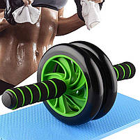 Фитнес колесо для пресса и других групп мышц Double Wheel Abs health (14219), фото 4