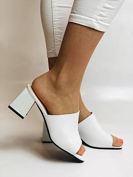 Blue Tempt. Женские модельные сабо с открытым носом на среднем каблуке. Размер 35 36 37 38 40