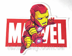 Нашивка Залізна Людина / Iron man Marvel 215х175 мм