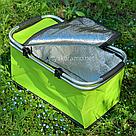 Термокорзина складная для пикника L 30л 27.5*24*48 см (зеленая), фото 3