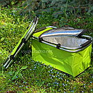 Термокорзина складная для пикника L 30л 27.5*24*48 см (зеленая), фото 4