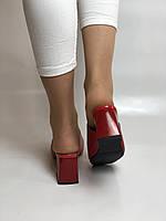 Зручні! Жіночі сабо шльопанці на невисокому каблуці. Натуральна шкіра. Червоний. Туреччина. Ripka 36. 37. 38.39.40, фото 10