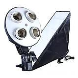 Софтбокс на 4 лампы Е27 Prolighting (50х70см,+Стойка 2.2м), фото 3