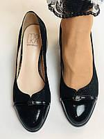 Жіночі модельні туфлі-човники високої якості.Polann Натуральна замша. Чорний Супер комфорт. 36, 38, 40, фото 5
