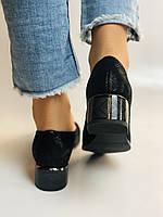Жіночі модельні туфлі-човники високої якості.Polann Натуральна замша. Чорний Супер комфорт. 36, 38, 40, фото 6