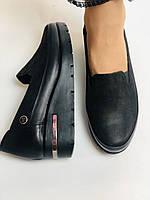 Mammamia. Жіночі туфлі на середній танкетці.Натуральна лакована шкіра.Туреччина. Розмір 35,36,38,39,40, фото 6