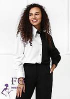 Двоколірна жіноча блузка на ґудзиках 020В / 03, фото 1