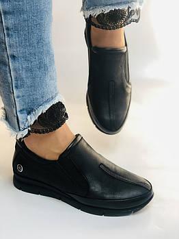Mammamia. Женские туфли на низкой танкетке. Натуральная кожа.Турция. Размер 36,37,38