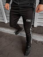 Штаны Спортивные мужские Ander Armour (андер армуар) с рефлективом Liner черные Осенние | Весенние | Летние