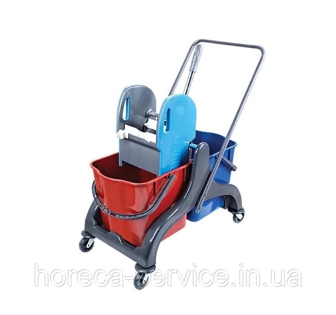 Візок для прибирання на 2 відра (2х25 л.) СК750-Т