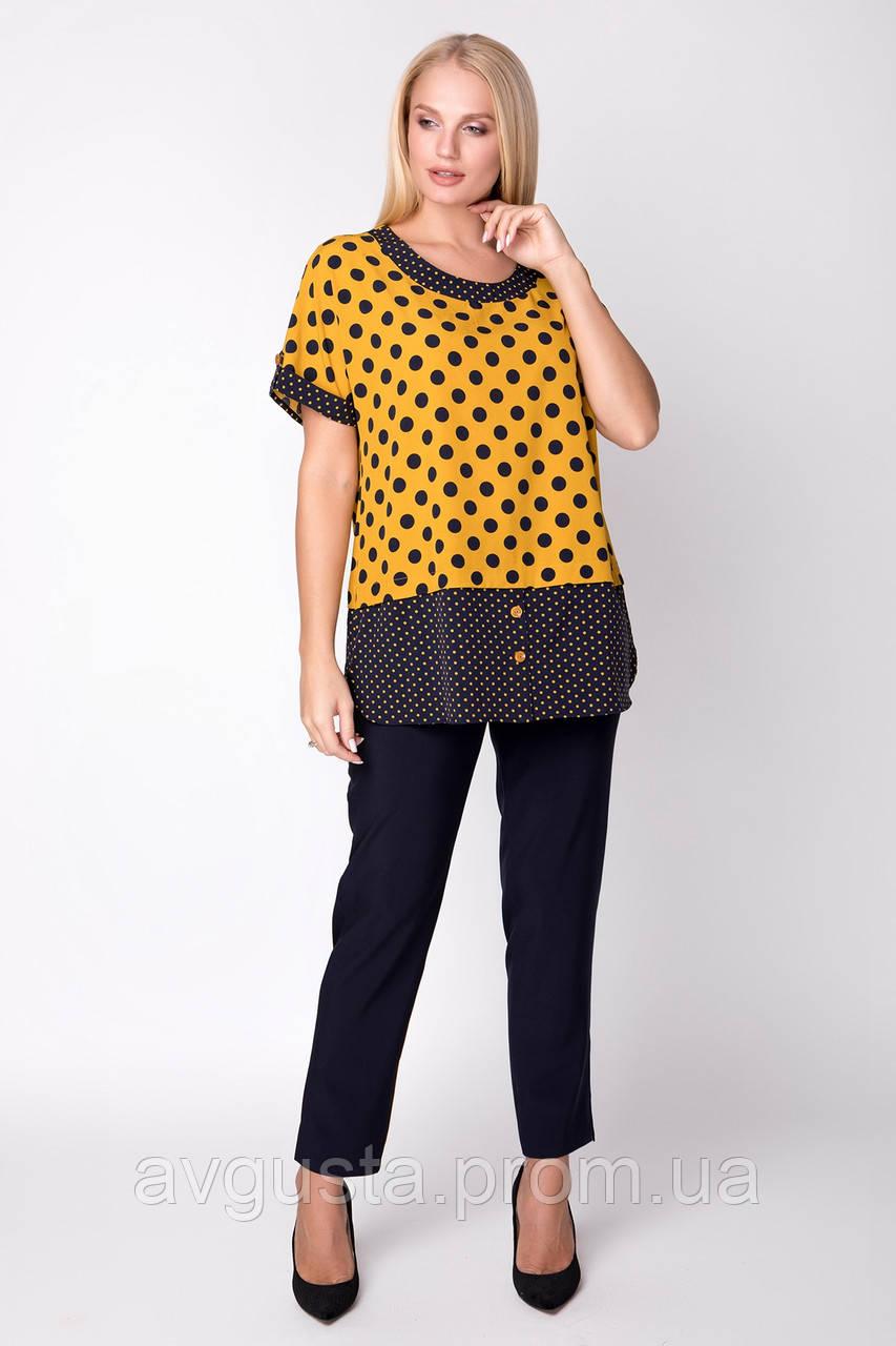 Блузка ТМ ALL POSA Сицилія жовтий 54 (1333-4)