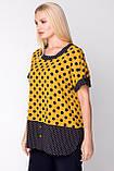 Блузка ТМ ALL POSA Сицилія жовтий 54 (1333-4), фото 2