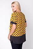 Блузка ТМ ALL POSA Сицилія жовтий 54 (1333-4), фото 3
