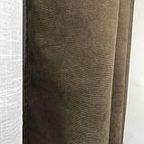 Комплект штор на люверсах з тюлем на люверсах Шторы 200х270 + тюль 500х270 Шторы с подхватами Цвет Кофейный, фото 7