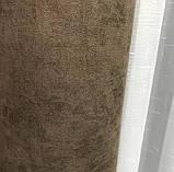 Комплект штор на люверсах з тюлем на люверсах Шторы 200х270 + тюль 500х270 Шторы с подхватами Цвет Кофейный, фото 8