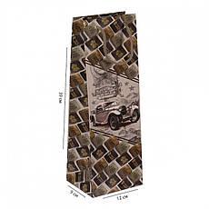 """Пакет кольоровий """"Пляшка Мікс Чоловічий/Жіночий"""" 12х39х9 см 7003, фото 2"""