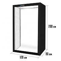 Лайткуб (фотобокс, фотостудия) Puluz PU5210 200 x 120 x 80 см для предметной съемки Black, фото 7