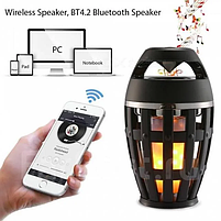 Портативная колонка Flame Atmosphere Speaker с пламенной LED подсветкой, фото 10