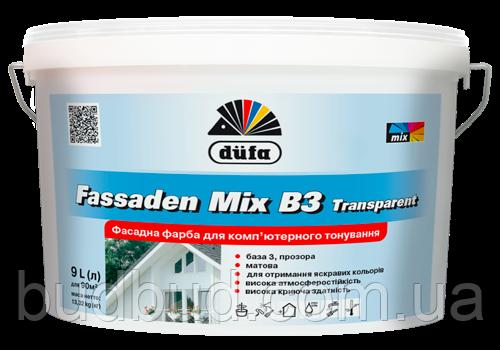 Фарба базова Fasaden Mix B3 transparent Dufa  9 л