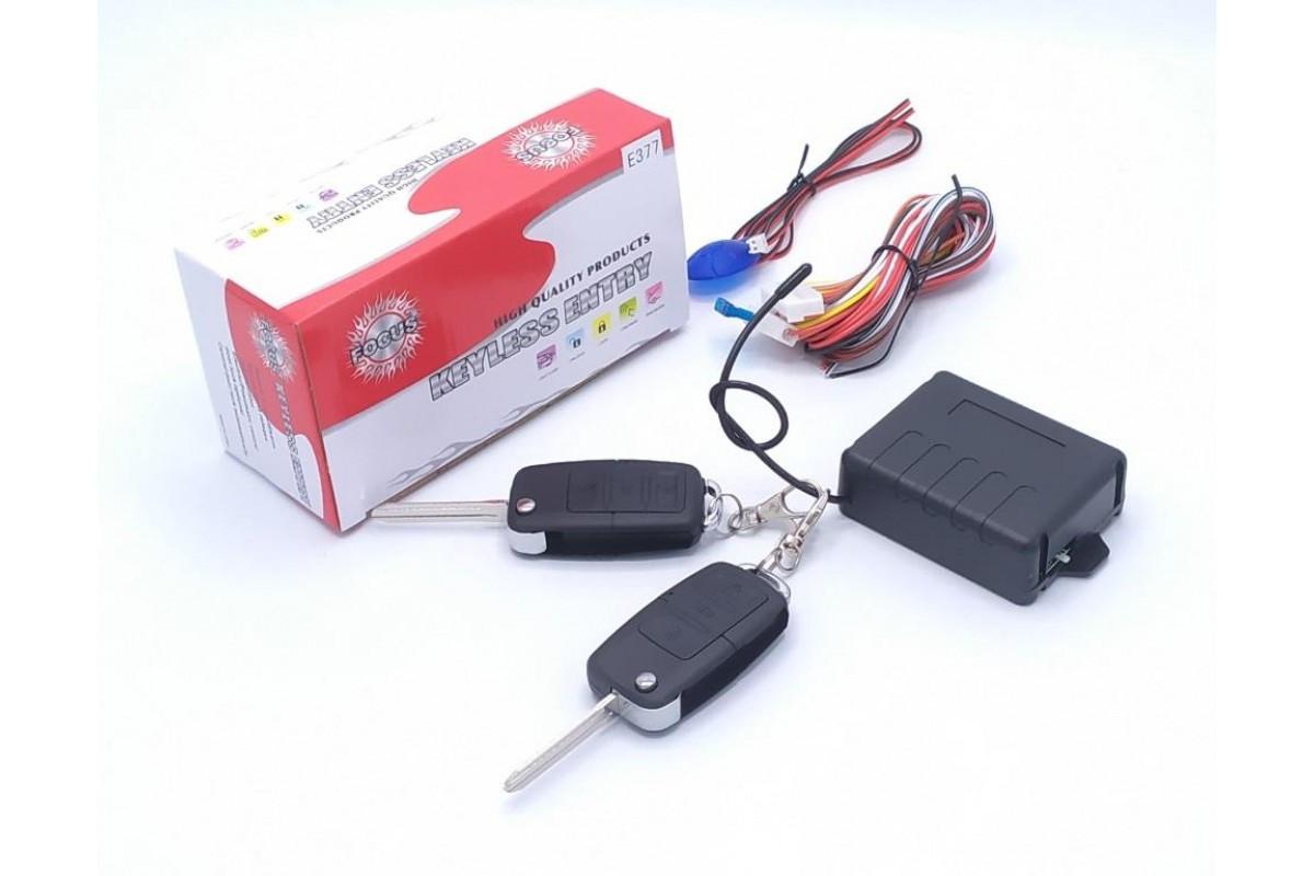 Автомобильный блок дистанционного управления центральным замком FOCUS KE 311-377 c пультами и выкидным ключом