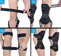 Коленные стабилизаторы Powerknee Nasus sports поддержка коленного сустава,  облегчение боли для колена, фото 5