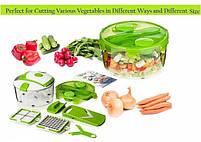 Овощерезка Multi Salad Chef 13 в 1, Набор для нарезки салатов, фото 8