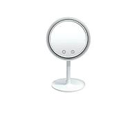 Настольное косметическое зеркало NuBrilliance Beauty Breeze Mirror с подсветкой и вентилятором, фото 4
