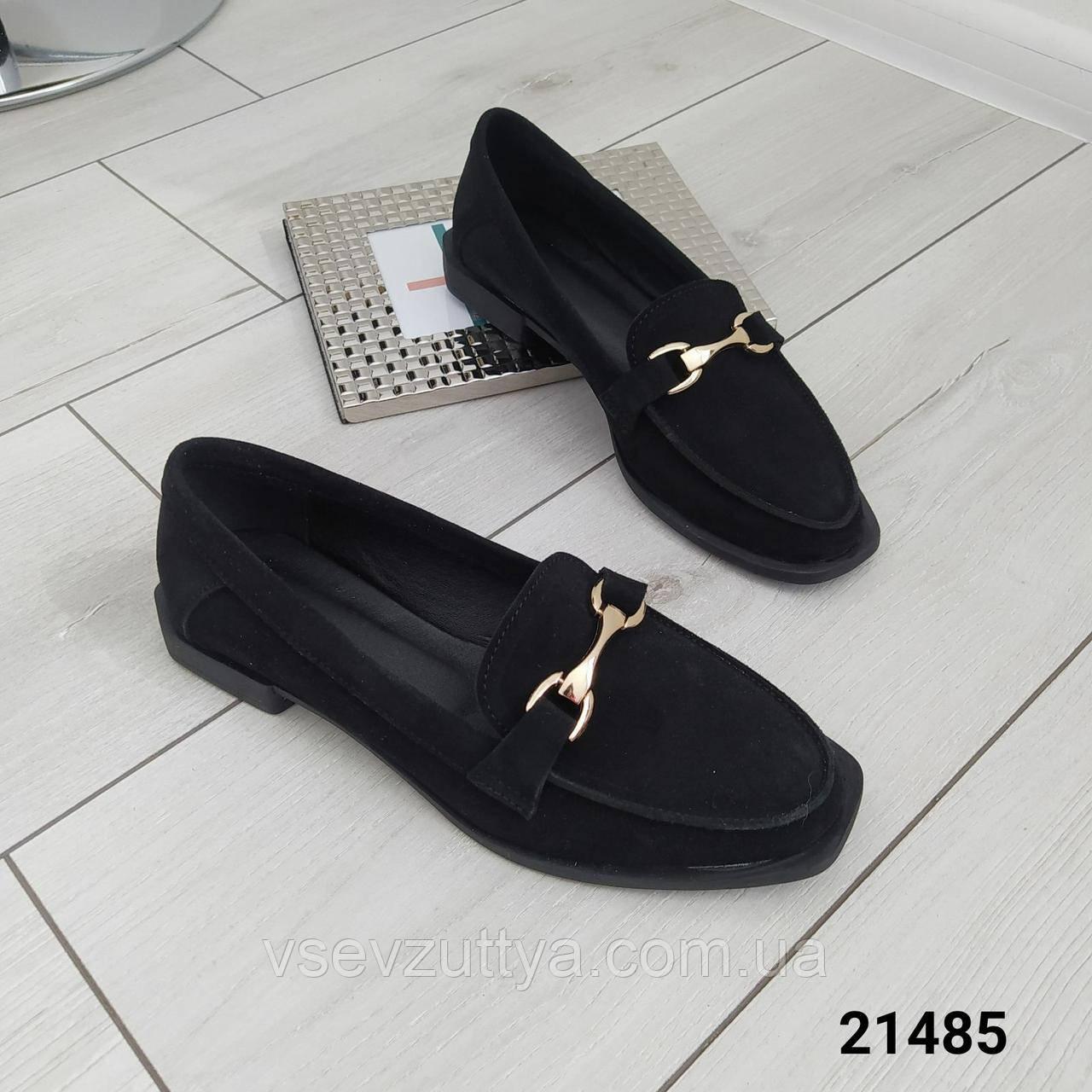 Туфлі жіночі замшеві чорні